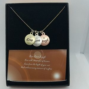 Jewelry - NWT Live Love Laugh Necklace